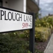 Plough Lane street sign