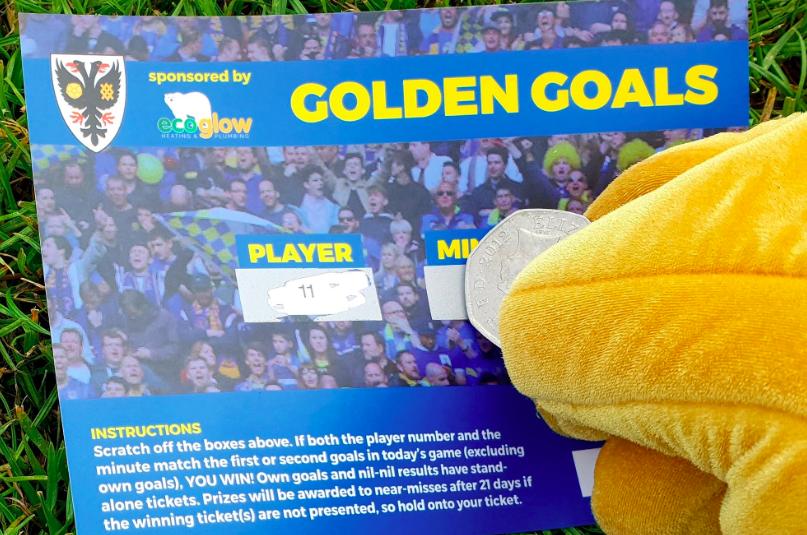 AFC Wimbledon Golden Goals Ticket