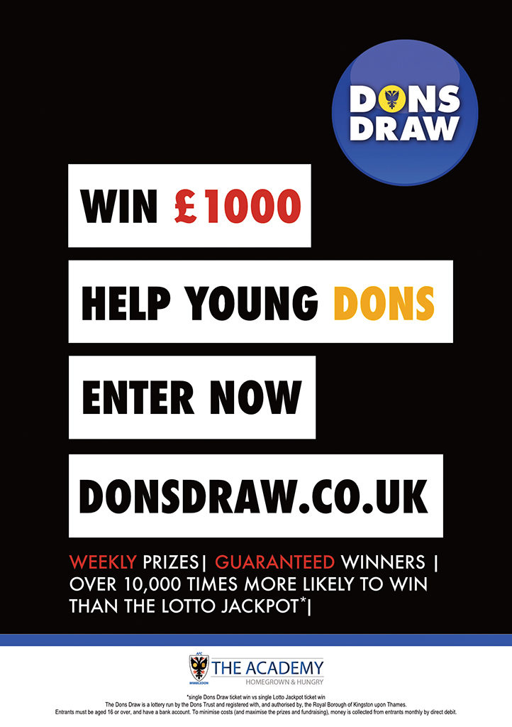 Dons Draw advert