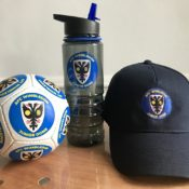 Junior Dons Gifts - football, waterbottle and cap
