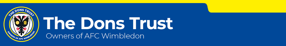Use PayPal to join or donate to the Dons Trust