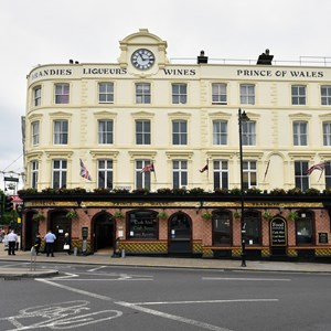 An external view of the Prince of Wales pub in Wimbledon