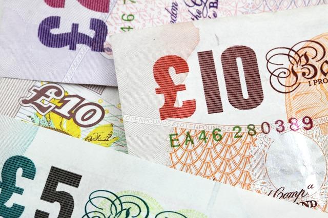 Bank notes lying flat